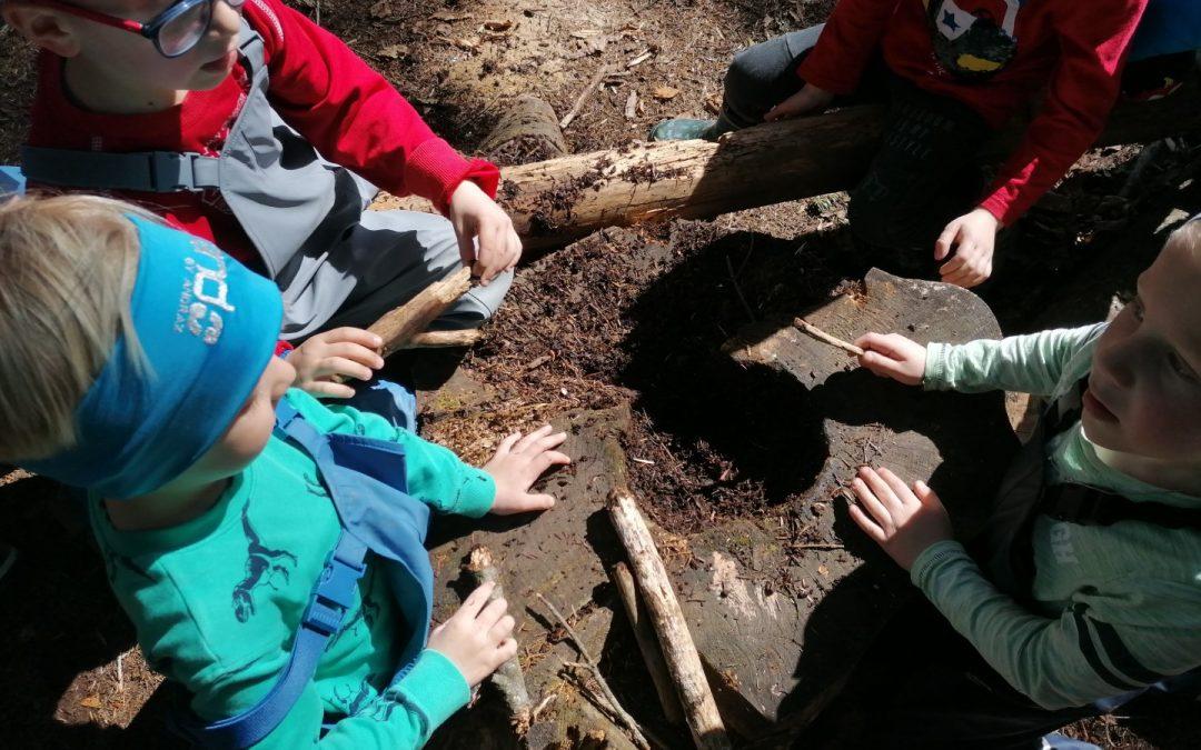 Spontana igra v gozdu
